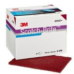 3M™ Scotch-Brite™ brúsivo - veryfine - cervena - d150-mm - vysek - 10-ks